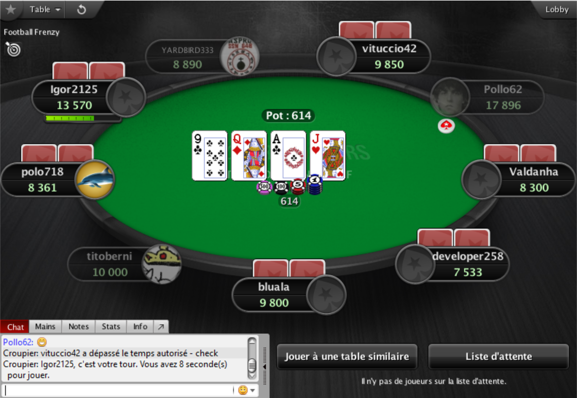 pokerstars table poker