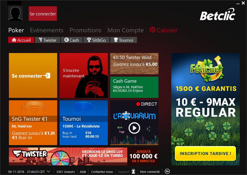 test betclic poker