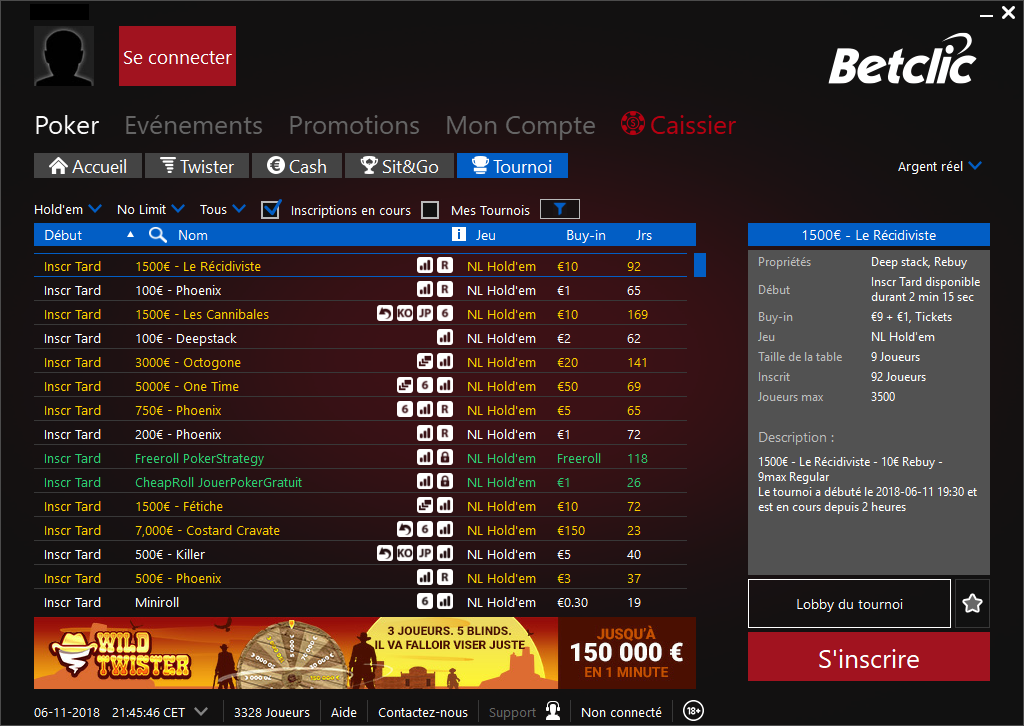 betclic poker tournoi