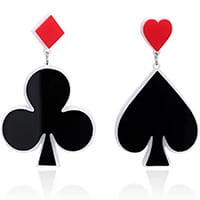 boucles d'oreille poker