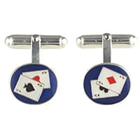 boutons de manchette poker