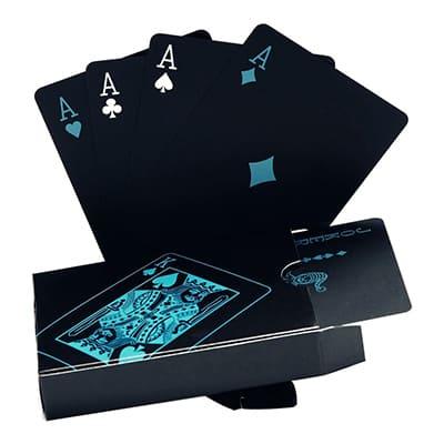 cartes poker fantaisie noir