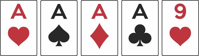 combinaison poker carre