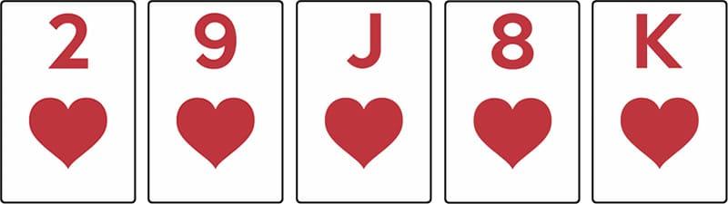 combinaison poker couleur