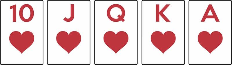 combinaison poker quinte flush royale