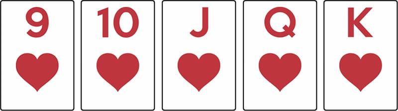 combinaison poker quinte flush
