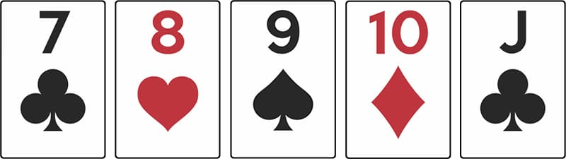 combinaison poker suite quinte