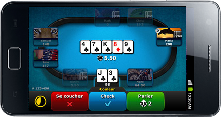pmu poker mobile smartphone tablette