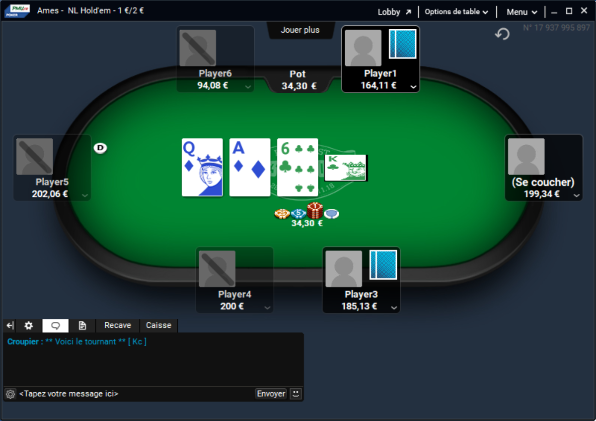 pmu table poker