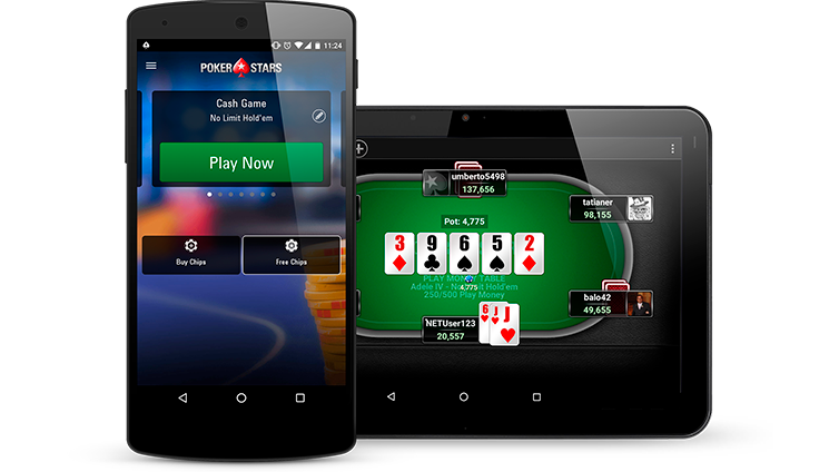 pokerstars mobile smartphone tablette