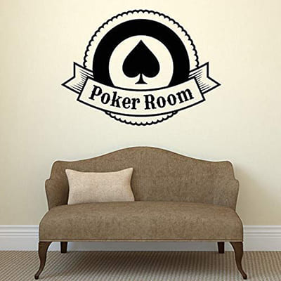 sticker mural poker