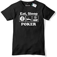 tee shirt poker homme