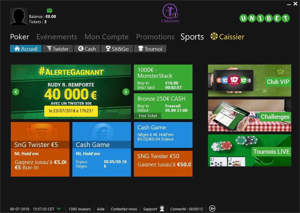 unibet poker cash game